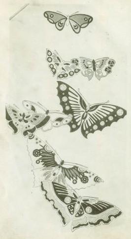 Papillons et Grues